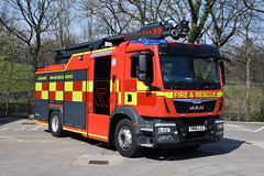 Lancashire - YN66LZC (matthewleggott) Tags: uk rosenbauer yn66lzc man fire engine appliance stinger lancashire rescue service blackburn