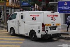 Safeguards G4S (So Cal Metro) Tags: toyota hiace van armoredcar armoredtruck money currency transport armoredtransport safeguards g4s kualalumpur malaysia