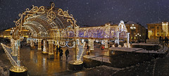 Moscow walks (janepesle) Tags: russia moscow new year christmas decoration illumination city cityscape architecture arch travel outdoors snow winter night light москва манежная площадь