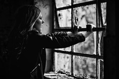 Break Free (Vacant Photography) Tags: abandoned abandonné dark vanguardworld vanguard building beauty creepy decay dust derelict hidden old indoor exploring verlassen forgotten girl photography nikon lost window rust urbex urbanexploring strong woman model