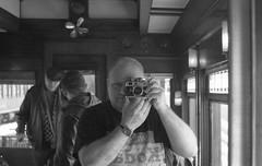 Riding in The 100 Business Car on the Heber Valley Railroad - Heber City, Utah (Shaun Nelson) Tags: train railroad hvr hebervalleyrailroad leica m3 leicam3 summarit 50mm film filmphotography filmisnotdead 35mm analog ishootfilm filmcamera believeinfilm filmcommunity filmfeed buyfilmnotmegapixels thefilmcommunity shootfilm ilford hp5 hebercity ut utah utfp utahfilmphotography utahfilmphotographycom