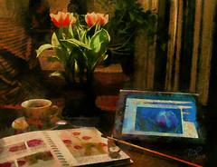 Ночной досуг / Loisirs de nuit / Night leisure / Nachtfreizeit (tatiana.ch) Tags: стилизация фотоживопись фото2013 фото2019 натюрморт натюрмортцветочный dap painting phototopainting ownphoto stilllife naturemorte monet olddry стильстарыхмастеров