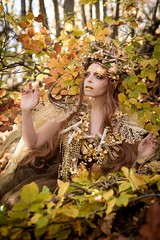 "TEATRONATURA ""The golden forest"" (valeriafoglia) Tags: gold golden elf creature autumn forest leaves trees brown yellow magic art atmosphere amazing dress delicate earth ethereal beautiful beauty nature model makeup stylist spirit wood outfit photo photography pretty portrait design composition creative capture colors concept"