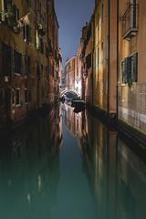 Venice at night (Rene Wieland) Tags: venice venedig nightshot travel architecture italy italia italien canal longexposure nacht night historical