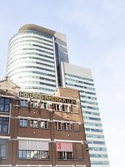 Rotterdam 2019: Holland-America Line (mdiepraam (35 mln views)) Tags: rotterdam 2019 hotelnewyork skyscraper highrise architecture building lookup wilhelminapier worldportcenter havenbedrijfrotterdam