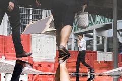 (@AmirsCamera) Tags: masjidjamek kualalumpur city urban light reflection people walking walkby water rain orange white legs man woman streetphotography street colour color work office style malaysia olympus omdem1 november 2018