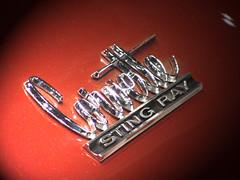 65 Stingray Detail2 (artreality) Tags: corvette stingray vette 1963 red classic antique custom automobile carshow chrome chevrolet gm chevy reflection