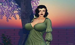 Vintage Bombshell (fionadempsey) Tags: vintage bombshell boobs tits sexy secondlife sl greeneyes curvy curves