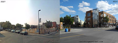 Before / After: Ontario street (Vanishing Montréal) Tags: history villedemontreal montreal histoire photography art architecture demolition disappearinghistory newconstruction