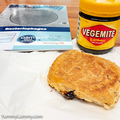 Coon cheese and Vegemite breakfast roll (garydlum) Tags: cheese cooncheese vegemite canberra australiancapitalterritory australia au