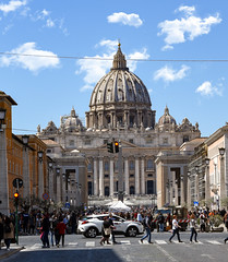 When Old Meets New (Jamesylittle) Tags: vatican city rome st pauls pope cathlic old new present