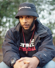 Strizzy Strauss (fraser_west) Tags: portrait artist hiphop film analog kodak portra uk portra400 6x7 mamiyarz67 rz67 mediumformat sunset naturallight park leicester wetheconspirators