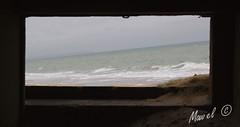 Déjà encadré! (Mawel.P) Tags: eos100d beach bockhaus normandy sea sand frame green