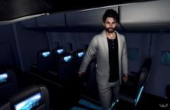 Leaving on a Jet Plane (Sadwolf SL Photos) Tags: fameshed etham blazer airplane ljacket slmodel slfashion slphotographer avatar secondlife sl slblogger
