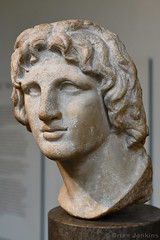 Marble Portait of Alexander the Great (2nd - 1st Century BC) (Bri_J) Tags: britishmuseum london uk museum historymuseum nikon d7500 marble portait alexanderthegreat bust alexandria