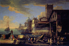 Luca Carlevarijs - A Capriccio View with a Shipyard, 1714 - Canaletto and the Art of Venice Exhibit at National Gallery of Ireland Dublin Ireland (mbell1975) Tags: pearsestreet dublin ireland ie luca carlevarijs a capriccio view with shipyard 1714 canaletto art venice exhibit national gallery museum museo musée musee muzeum museu musum müze museet finearts fine arts gallerie beauxarts beaux galleria painting italian grandmasters masters golden age giovanni antonio canal royal collection windsor castle england