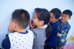 2019 Winter Camp Science Lesson 24 (ArdieBeaPhotography) Tags: boys girls children kids little young middleschool elementaryage schoolholiday programme class group classroom bench table chair window bottles water markers felttippens winter jacket jeans tights puffy pullover sweater jersey jumper strike hit musical vibrate vibrations science lesson teach learn friends ponytail long black hair sweet pretty patterned lean whisper listen ring pour level laugh fun tamronspaf2875mmf28xrdildasphericalif noise