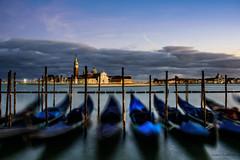 View to San Giorgio Maggiore (lasse christensen) Tags: dsc6301 gondola gondol venice venezia italia italy sangiorgiomaggiore bluehour italiaitaly