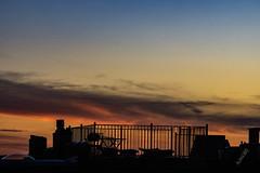Aloha365 - Day 303 - February 14, 2019 - Roof deck sunset (alohadave) Tags: 365project aloha365 boston clearsky dorchesterheights massachusetts northamerica pentaxk3 places season sky southboston suffolkcounty sunset thomaspark unitedstates winter smcpda60250mmf4edifsdm