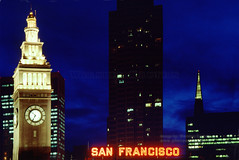Ferry Building in the evening light, San Francisco (Vern Krutein) Tags: sanfrancisco historic history archives california architecture travel scenics structure city american usa unitedstates cityscape skyline night exterior outdoors outside nighttime ferrybuilding theembarcadero clocktower building landmark csfv02p1305