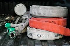 Hoses (Karen_Chappell) Tags: hose hoses stilllife red firestation firedepartment truck stjohns newfoundland nfld