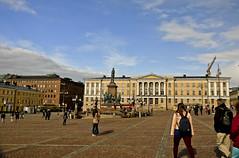 A9744HELSb (preacher43) Tags: helsinki finland building architecture sky clouds history senate square carl ludvig engel people statue tsar alexander ii university