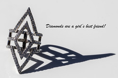 Diamonds are a girl's best friend. (mimsjodi) Tags: macromonday hardlight diamonds ring shadows jewelry challenge groupchallenge diamond shadow hmm