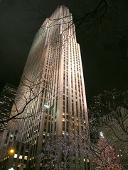 Night Time Architecture (Stanley Zimny (Thank You for 39 Million views)) Tags: building architecture nyc newyork night light christmas tree
