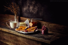 Breakfast with simplicity (Davide Solurghi Photography) Tags: davidesolurghiphotography davidesolurghi davidesolurghiph stilllife naturemorte naturamorta food cibo cups tazzine teapot breakfast colazione burro marmellata butter marmalade pane bread latte milk fruit fruits frutta lamponi raspberries flower fleurs fiori vetro glass wood legno table tavolo wooden furniture mobilia