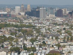 Newark, NJ Tuesday, September 8, 2015 (tombrewster6154) Tags: newark nj early september late summer houses trees sky hills aerial commercials buildings blue