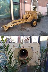Entrance of the allied invasion of Sicily museum - Ordnance QF 25 lb (Seby / Sebastian Di Guardo) Tags: entrance allied invasion sicily museum ordnance qf 25 lb british field gun howitzer