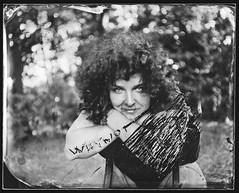 Vera (Attila Pasek (Albums!)) Tags: bugacikontaktfotográfiaitábor glass portrait photographer ambrotype sinarf1 camera rodenstock150mmf56 veraafeher 4x5 scratched collodion