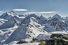 cathedrals II (Matt_étranger) Tags: mountain montagna landscape paesaggio wild nature wilderness natura winter invernale inverno neve ghiaccio ice snow snowy glacier gletscherghiacciai couronne impériale weisshorn dent blanche cervin cervino matterhorn anniviers st luc chandolin wallis valais swiss svizzera alps alpi rocks cloud nuvole sky blue white bianco
