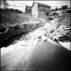 388 fp125 08 (rubbernglue) Tags: restagård pinhole ilfordfp4 2017 6x6 squareformat water kodakd76 sweden sverige analog bw blackandwhite bwfp analogexif runningwater stream