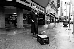 Balloons (LA Street Moments) Tags: dtla losangeles balloons street streetphotography leica m 246 leicam bnw bnwphotography bw homeless streetlife