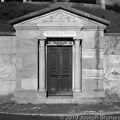 Portals 34 (Joseph Brunjes) Tags: 11 2019 400 503cw brunjes hasselblad joseph mediumformat nc blackwhite crypt d76 door film portal project tmax ©2019