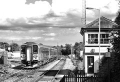 Liskeard (R~P~M) Tags: train railway station signalbox dmu multipleunit 153 150 sprinter firstgreatwestern liskeard cornwall kermow england uk unitedkingdom greatbritain