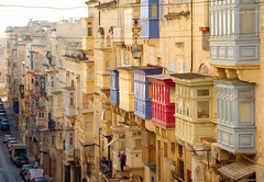 Colourful Balconies (albireo 2006) Tags: valletta malta balconies street