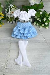 Ruffle skirt (Elena_art) Tags: msd minifee chloe fairyland bjd etsy handmade outfit