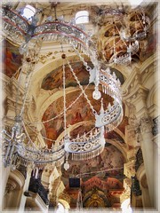 Crystals and crosses..... (Sherrianne100) Tags: churchinterior crystals stnicholaschurch church czechrepublic praha prague