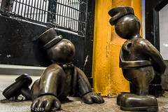 EM-190318-POST-001 (Minister Erik McGregor) Tags: erikmcgregor nyc newyork photography 9172258963 erikrivashotmailcom ©erikmcgregor usa photooftheday lifeunderground busted sculpture art tomotterness publicartwork metalart publicart ftp acab fuckthepolice abolishthepolice endbrokenwindows endpolicebrutality endpoliceterror iloveny ilovenewyork ilovenyc artoftheday mta nyctransit subwaystation nycsubway eighthavenue manhattan streetphotography nikonphotography nikon