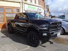Dodge RAM 2500 Heavy Duty outside the Dunes Cafe in Blackpool (j.a.sanderson) Tags: musclecar automobile trucks truck cars car blackpool dodgeram2500heavyduty dodgeram2500 dodgeram dodge thedunescafe
