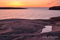 Granite sunset (Dan Wiklund) Tags: sweden sverige scandinavia westcoast bohuslän granite rock coast sea evening sunset d800 2015