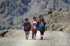 School's out! (johco266) Tags: maroc morocco girlfriends atlasmountains berber childrenoftheworld schoolsout hiking mountain marokko children nikon natur nature natuur peopleinnature sendero