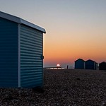 Beach huts and the last of the day thumbnail