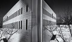 reflection ....  (c)rebfoto (rebfoto...) Tags: reflection rebfoto monochrome architecturalphotography building windows bw