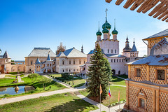 Rostov's Kremlin (Rostov, Russia) (KonstEv) Tags: church cathedral palace russia rostov architecture building house dome cross sky museum court yard orthodox monastery