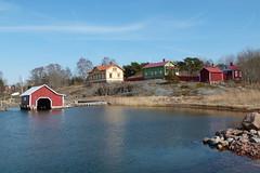 Degerby, Åland (evisdotter) Tags: degerby landscape houses hus boathouse water sky light sooc föglö åland skärgård archipelago