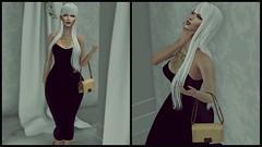 When I'm alone, I'd rather be with you (jek728 Clarence) Tags: moncada paris bag handbag whitehair lana dress fancy elegant black heels