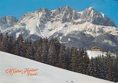 Postkarte / Österreich (micky the pixel) Tags: postkarte postcard ephemera österreich austria kaisergebirge alpen ostalpen gebirge mountains wilderkaiser landschaft landscape winter tirol bundeslandtirol